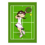 Tennis Girl RSVP Card