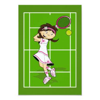 Tennis Girl RSVP Card Custom Invite