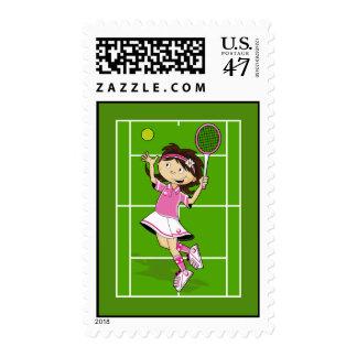 Tennis Girl Stamp