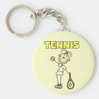 TENNIS Girl Tshirts and Gifts Basic Round Button Keychain
