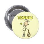TENNIS Girl Tshirts and Gifts Pinback Buttons