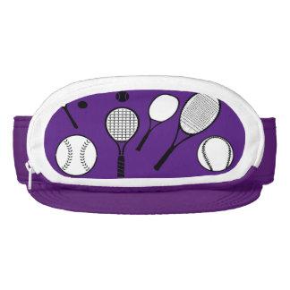 Tennis girls pink purple visor