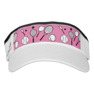 Tennis girls pink purple headsweats visor