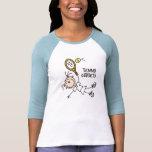 Tennis Goddess Stick Figure T-Shirt