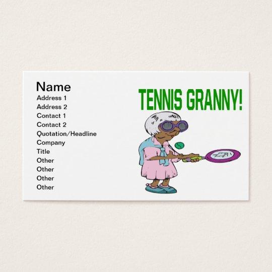 Tennis Granny Business Card