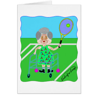 Tennis Granny Card