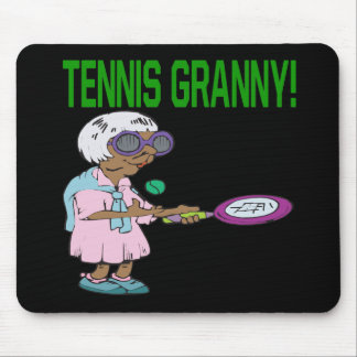 Tennis Granny Mousepads