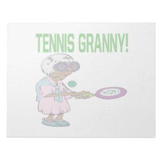 Tennis Granny Memo Note Pad