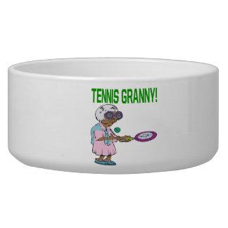 Tennis Granny Dog Food Bowl