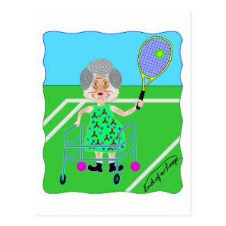 Tennis Granny Postcards