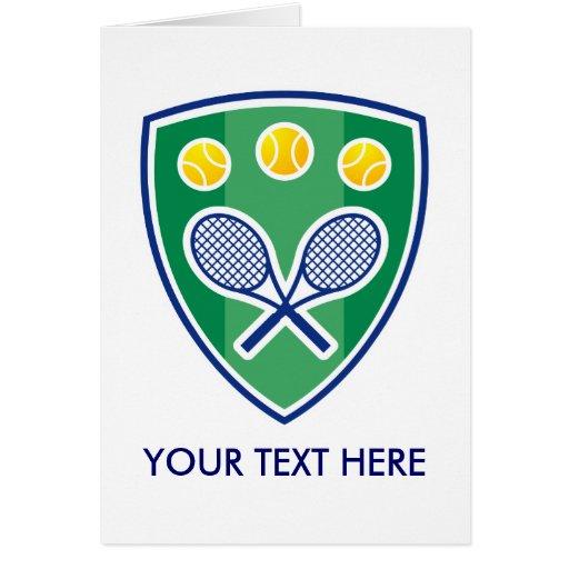 Tennis Greating Card For Men, Women Or Kids