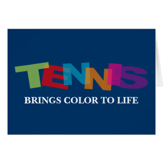 Tennis greeting card with quote