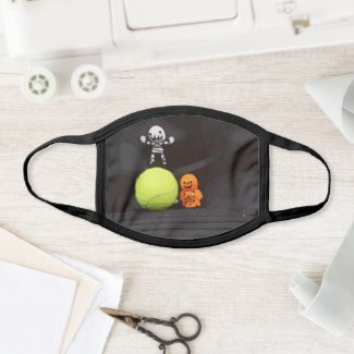Tennis Halloween  with tennis ball and ghost Face Mask