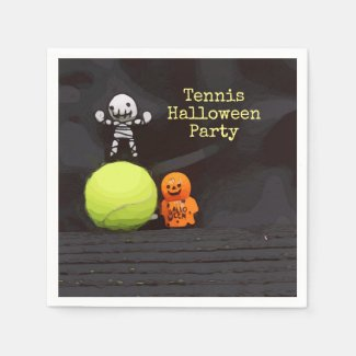 Tennis Halloween with tennis ball and ghost Napkins