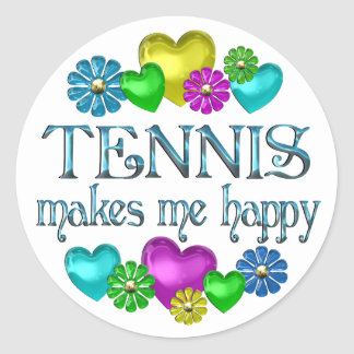 Tennis Happiness Stickers