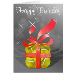 Tennis Happy Birthday gift Card