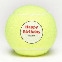 Tennis Happy Birthday Tennis Balls