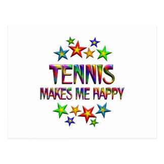 Tennis Happy Postcard