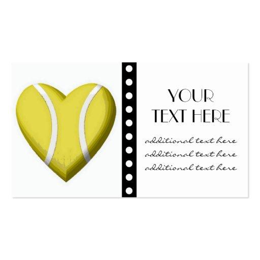 Tennis Heart Business Card Templates