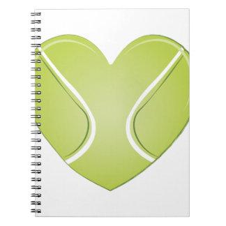 Tennis Heart Notebook