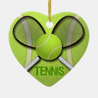 TENNIS HEART ORAMENT ORNAMENT