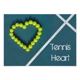 Tennis Heart, personalized Poster