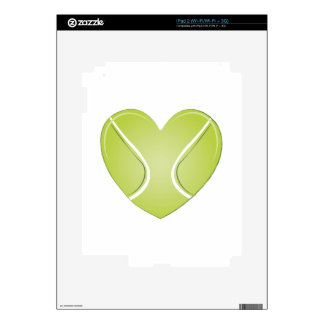 Tennis Heart Skin For iPad 2