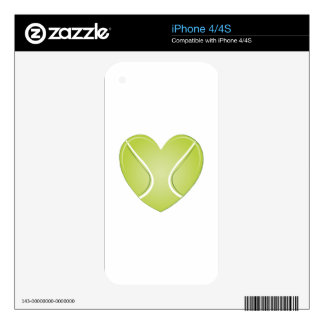 Tennis Heart Skin For The iPhone 4S