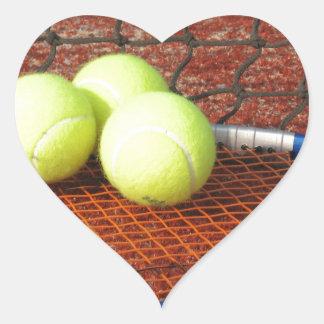 Tennis Heart Sticker