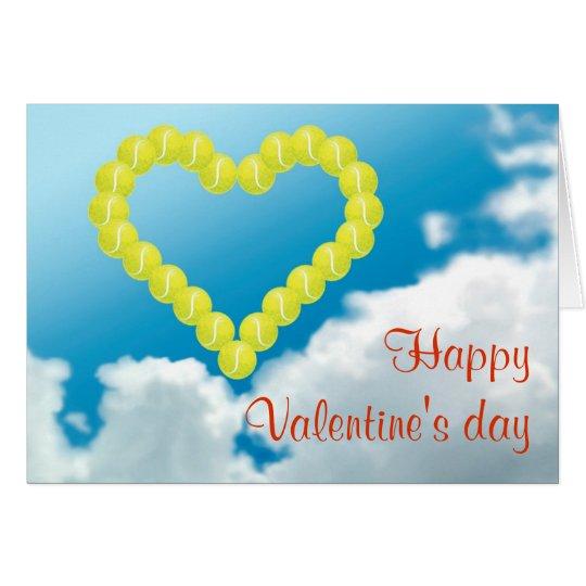 Tennis Heart Valentine's day Card