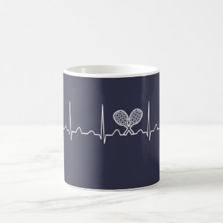 Tennis Heartbeat Coffee Mug