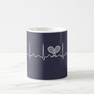 Tennis Heartbeat Coffee Mug