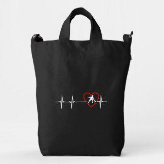 Tennis  heartbeat design duck bag