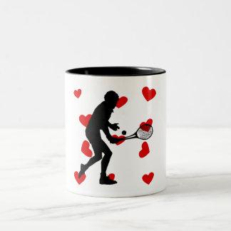 Tennis Hearts Coffee Mug