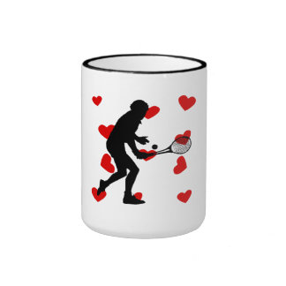 Tennis Hearts Mugs