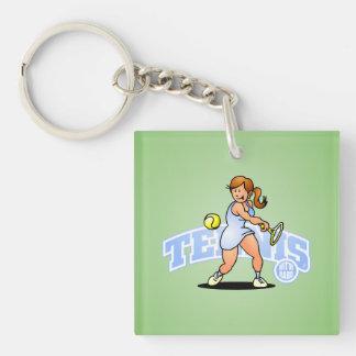 Tennis, Hit'm hard Keychain