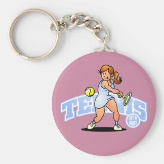 Tennis - Hit'm hard Keychain