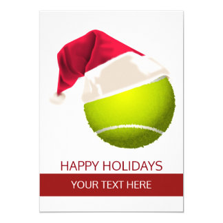 tennis Holiday Greeting Cards