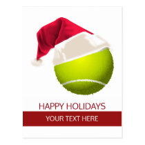 tennis Holiday Greeting Cards postCards