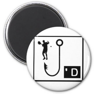 Tennis Hooked 2 Inch Round Magnet