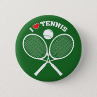 Tennis, I Love Tennis Button