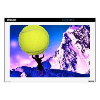 """Tennis in landscape 17"""" laptop decals"""
