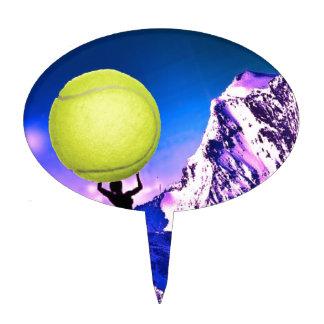 Tennis in landscape cake topper