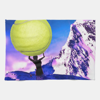 Tennis in landscape towel
