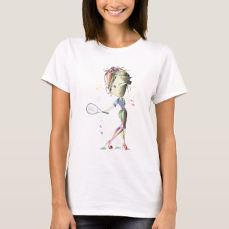 Tennis in Red Stiletto Shoes Art T-Shirt