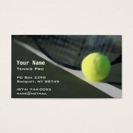 Tennis Instruction Business Card