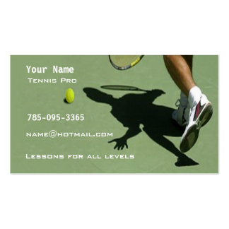 Tennis Instruction Double-Sided Standard Business Cards (Pack Of 100)