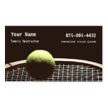 Tennis Instruction Business Card Templates