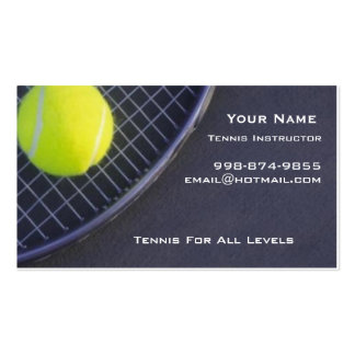 Tennis Instructor Business Cards
