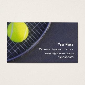 Tennis Instructor Business Card